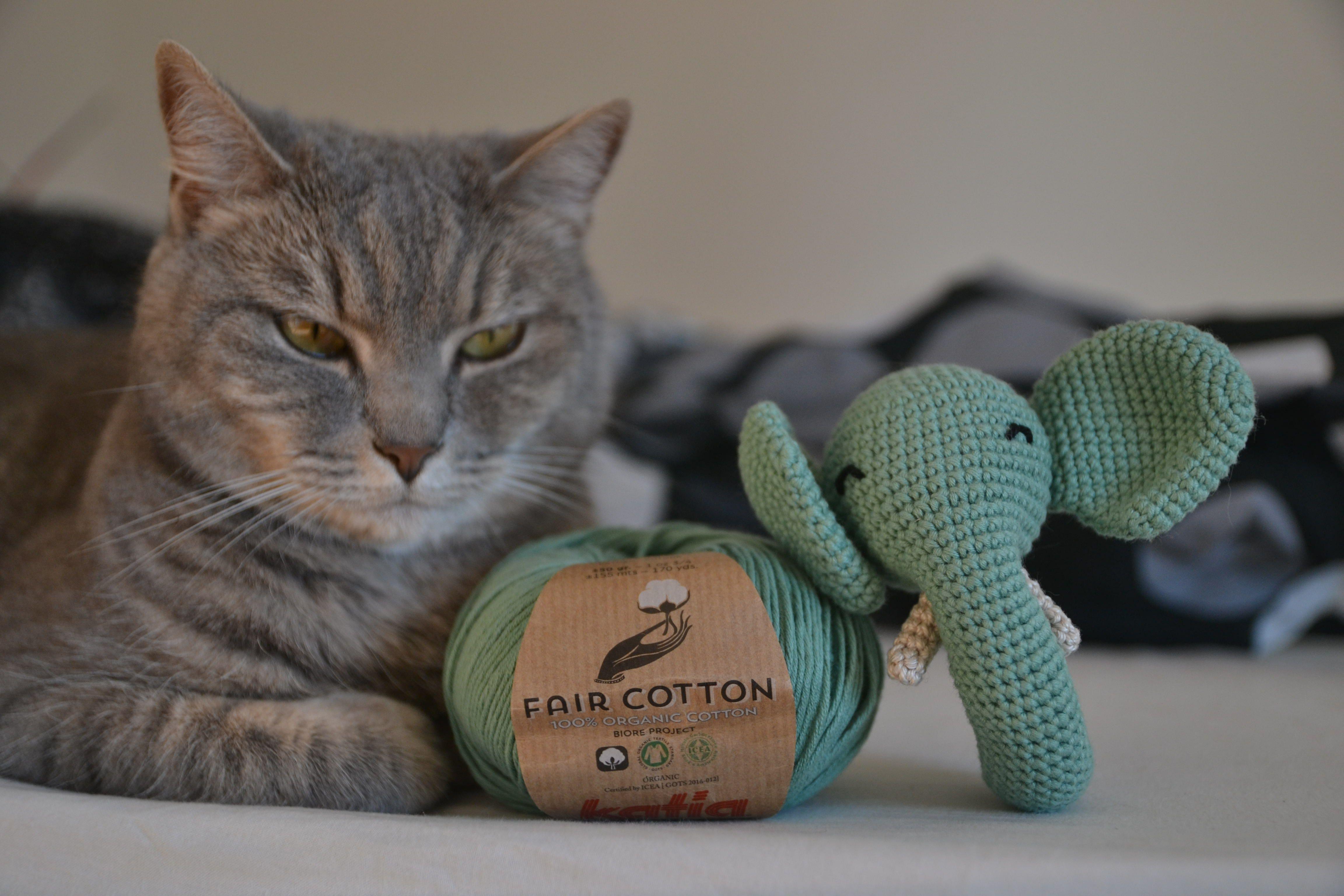 Amigurumi hecho con Fair Cotton de Katia